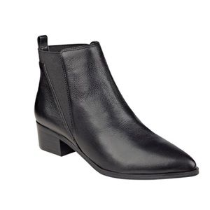 Marc Fisher Ignite Black Leather Chelsea Boots
